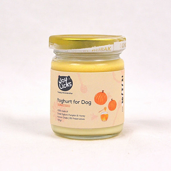 JOYLICKS Yoghurt for Dog Sunkissed Pumpkin Honey Frozen Food Joy Licks 100g