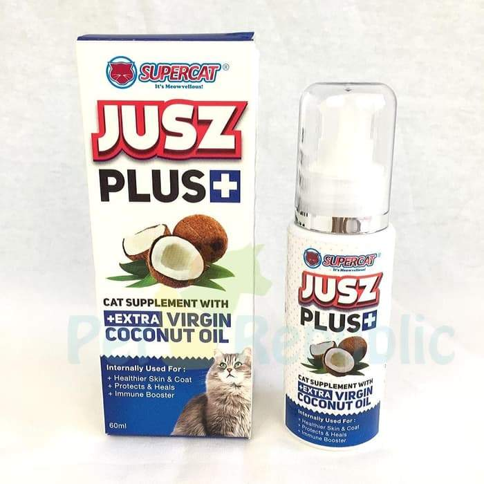 JUSZ Plus Coconut Oil 60ml - Pet Republic Jakarta