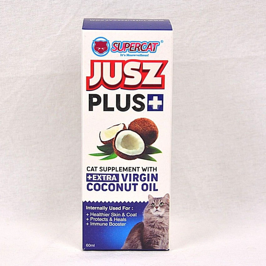 JUSZ Plus Coconut Oil 60ml Pet Vitamin and Supplement SuperCat