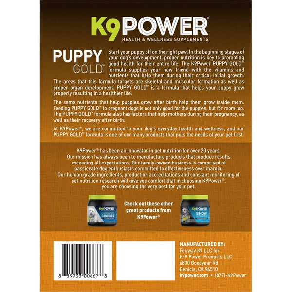 K9 Power Puppy Gold 4lbs Pet Vitamin and Supplement K9