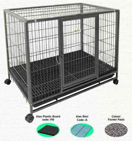 Kandang Anjing OCTAGON D219PB Knock Down- Board 94x63x85cm Cage Octagon