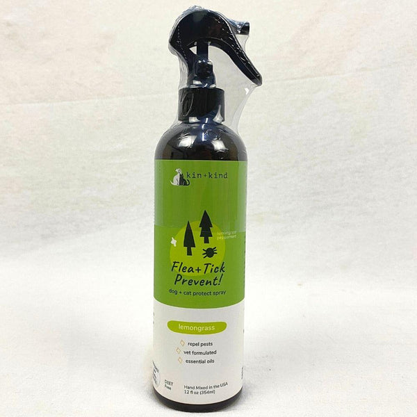 KINANDKIND Flea And Tick Spray Lemongrass 354ml Grooming Medicated Care Kin and Kind