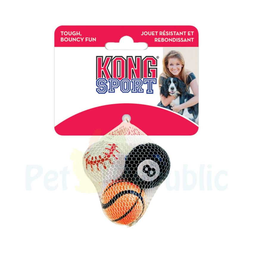 KONG Assorted  Sport Ball Set XSmall 3pcs - Pet Republic Jakarta