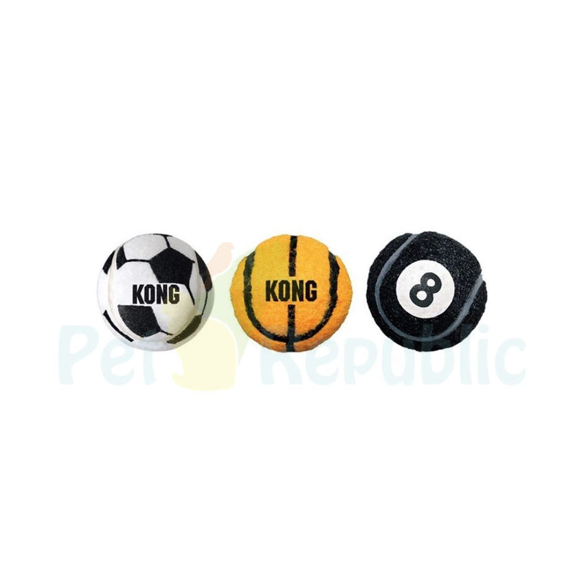 Kong Assorted Sports Ball Set Medium 3pcs - Pet Republic Jakarta