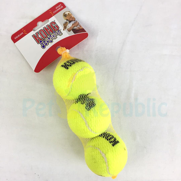 KONG AST2 Squeak air Ball Medium 3pcs - Pet Republic Jakarta