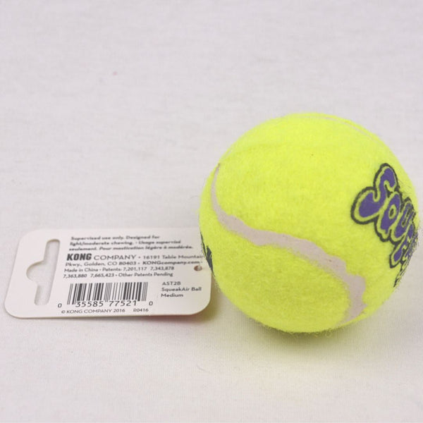 KONG AST2B Squeaker Tennis Ball Medium Dog Toy Kong
