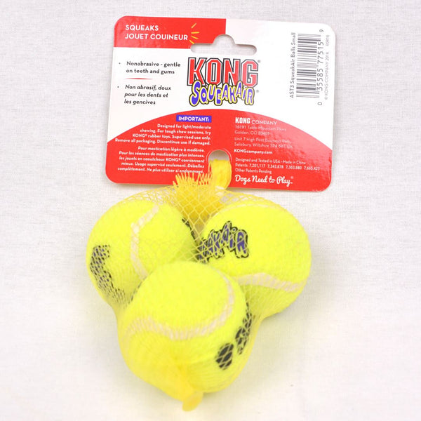 KONG AST3 Tennis Ball Small 3pcs Dog Toy Kong