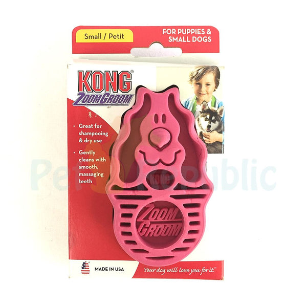 KONG ZG11 ZoomGroom Small Raspberry - Pet Republic Jakarta