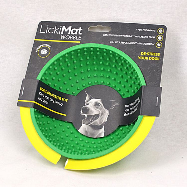LICKIMAT Wooble Pet Bowl LICKIMAT Green
