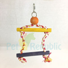 LIVINGWORLD 81100 Junglewood Bird Toy 2-Step Rope Ladder Hanging Clip Small - Pet Republic Jakarta