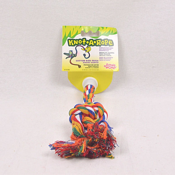 LIVINGWORLD 81360 Multicolor Cotton Perch 16mm x 20cm Bird Toys Living World