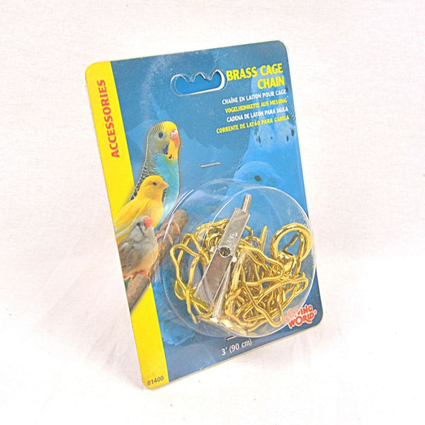 LIVINGWORLD Brass Chain 3ft W Hardware Bird Supplies Living World