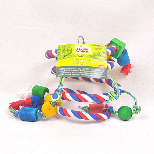 LIVINGWORLD Bungee Play Bouncing perch Bird Toys Living World