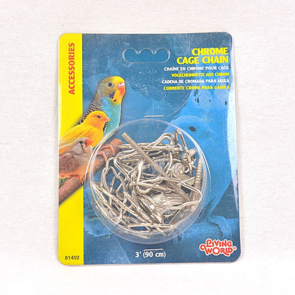 LIVINGWORLD Chrome Cage Chain 3ft Nickel Plated Bird Supplies Living World