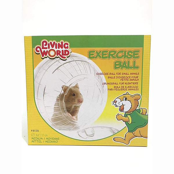 LIVINGWORLD Exercise Ball With Stand Medium 17cm Small Animal Toy Living World