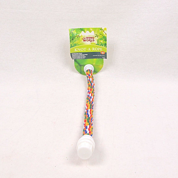LIVINGWORLD Multicolor Cotton Perch 16mm X 15cm Bird Toys Living World
