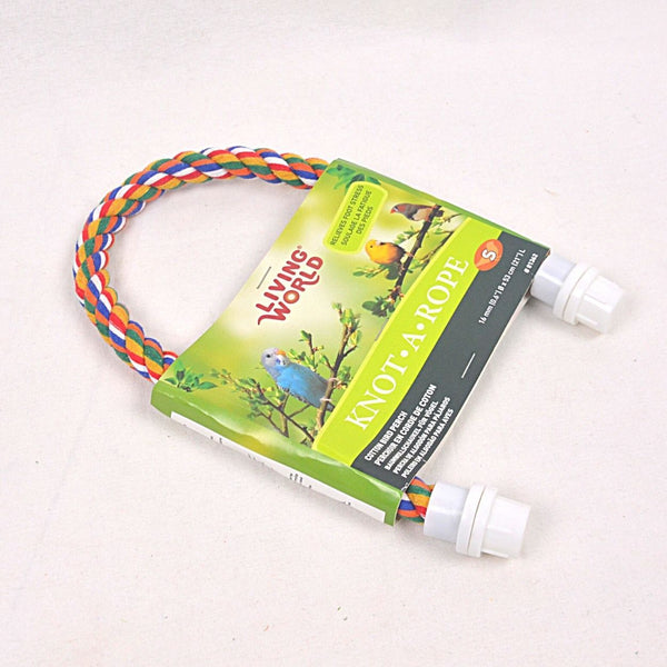 LIVINGWORLD Multicolor Cotton Perch 16mm x 21cm Bird Toys Living World