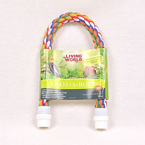 LIVINGWORLD Multicolor Cotton Perch 20mm x 21cm Bird Toys Living World