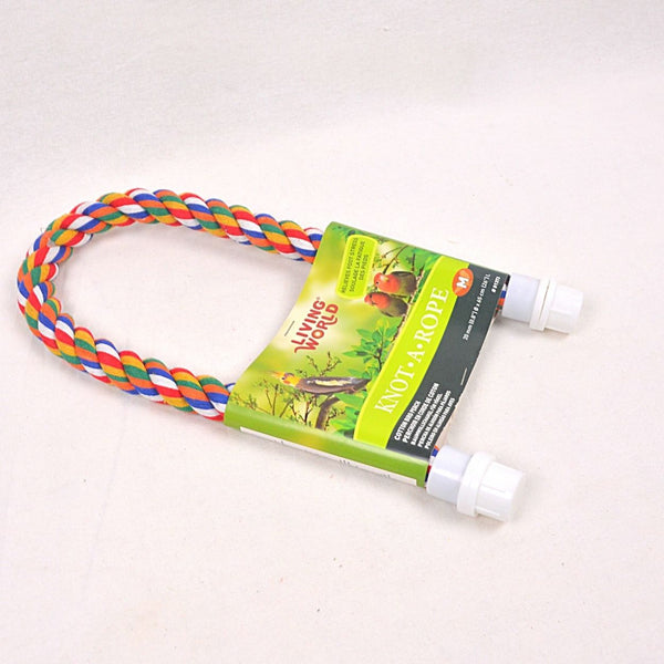 LIVINGWORLD Multicolor Cotton Perch 20mm x 26cm Bird Toys Living World