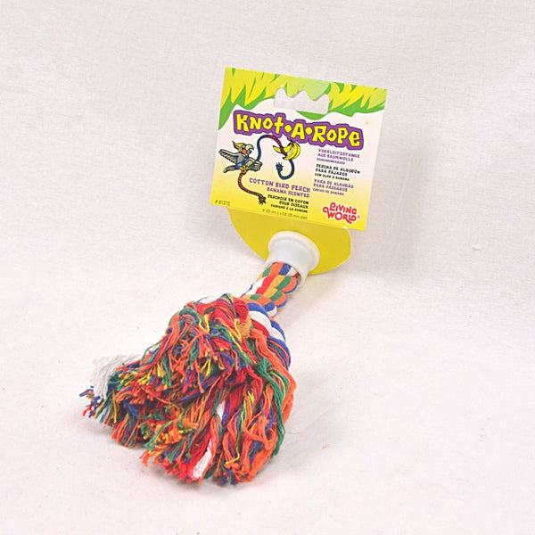 LIVINGWORLD Multicolor Cotton Perch 20mm x 9cm Bird Toys Living World