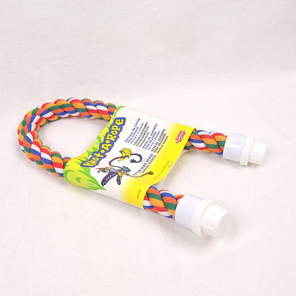 LIVINGWORLD Multicolor Cotton Perch 30mm x 28cm Bird Toys Living World