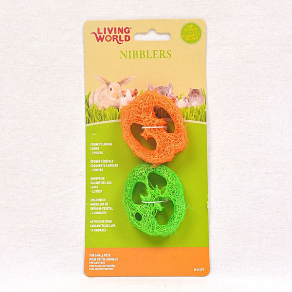 LIVINGWORLD Nibblers Loofah Chews Slices Small Animal Toy Living World
