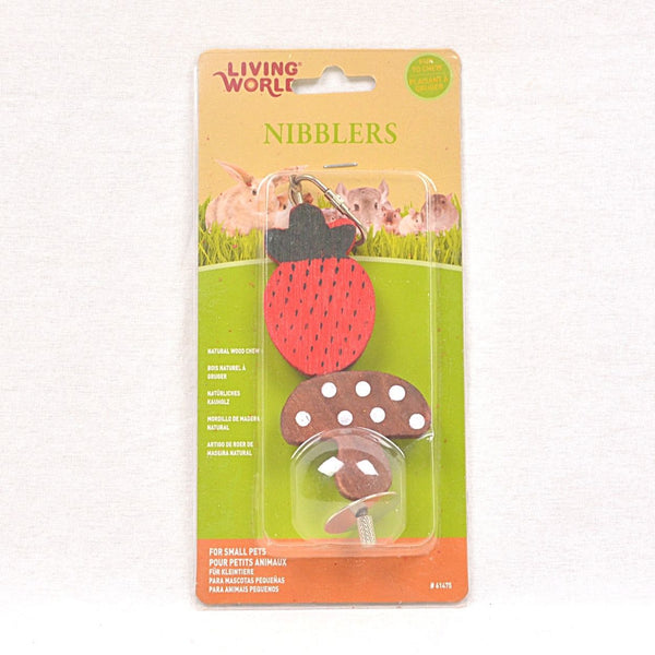 LIVINGWORLD Nibblers Wood Chew Mushroom and strawberry Small Animal Toy Living World