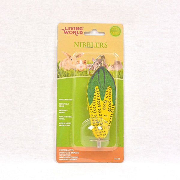 LIVINGWORLD Nibblers Wood Chews Corn Cob Small Animal Toy Living World