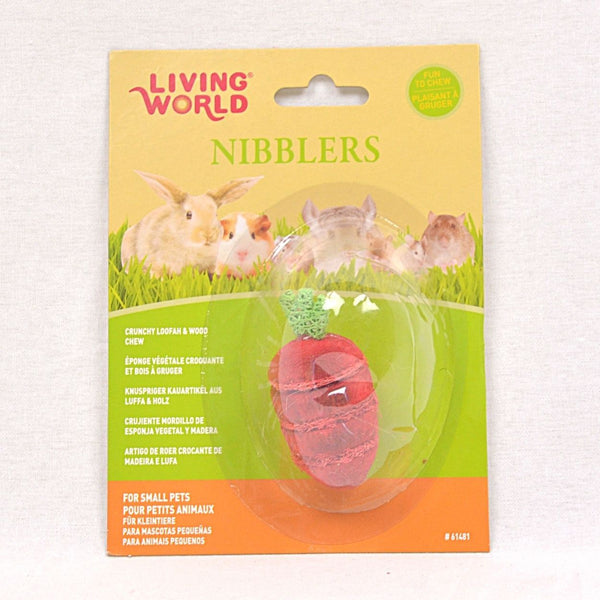 LIVINGWORLD Nibblers Wood Loofah Chews Strawberry Small Animal Toy Living World