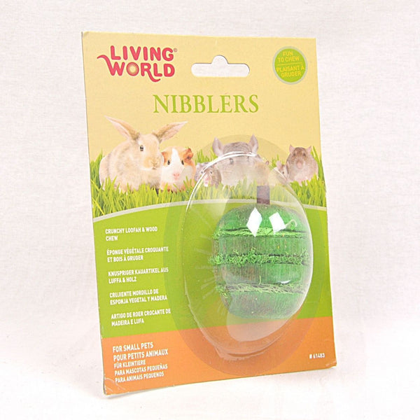 LIVINGWORLD Nibblers Wood Loofah hews Apple Small Animal Toy Living World