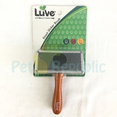 LUVE LV013 Finest Slicker Brush Medium - Pet Republic Jakarta