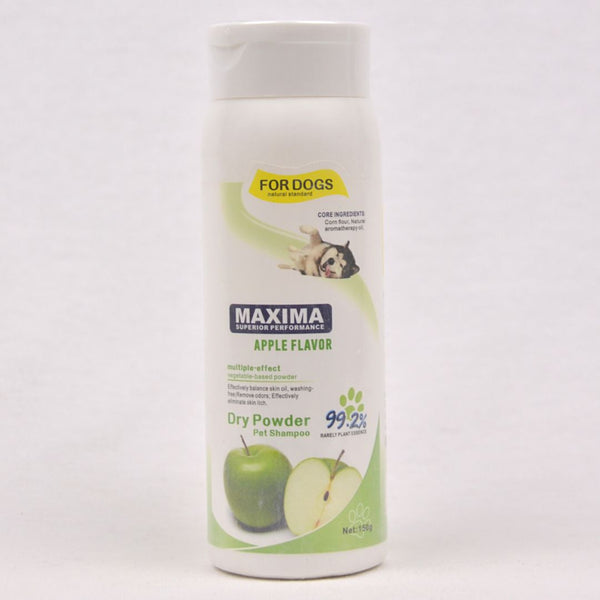 MAXIMA Apple Flavor Dry Powder Pet Shampoo 150g Grooming Shampoo and Conditioner Maxima