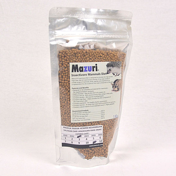 MAZURI Insectivore Mammals Diet 150gram Small Animal Food Mazuri