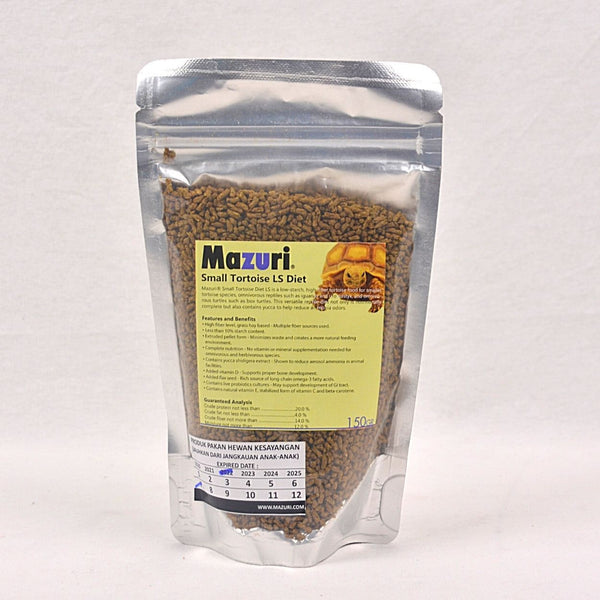 MAZURI Tortoise Diet Small LS Diet 150gr Small Animal Food Mazuri
