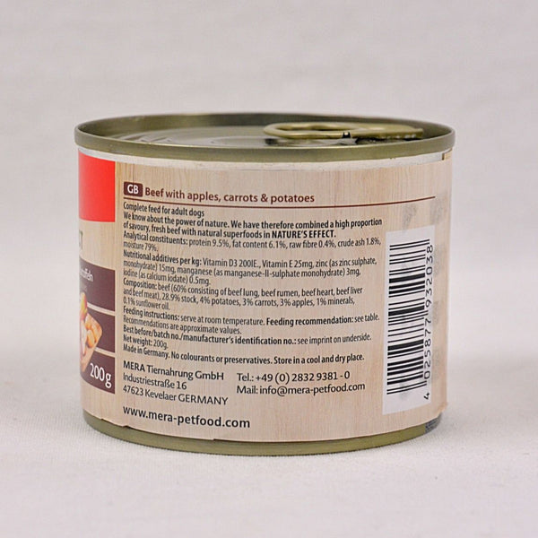 MERADOG Nature's Effect Wetfood RIND - Beef 200gr Dog Food Wet Meradog