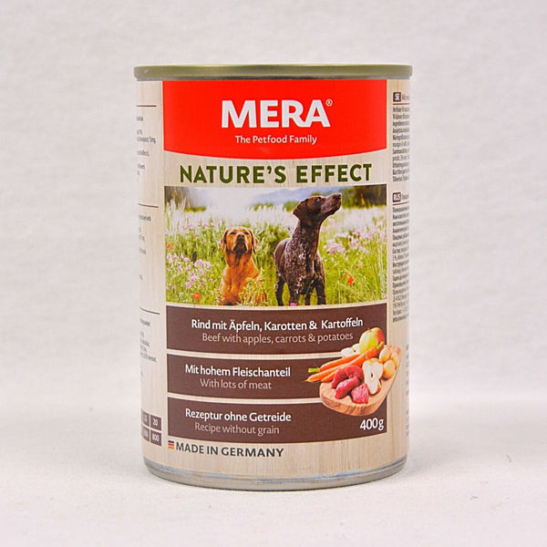 MERADOG Nature's Effect Wetfood RIND - Beef 400gr Dog Food Wet Meradog