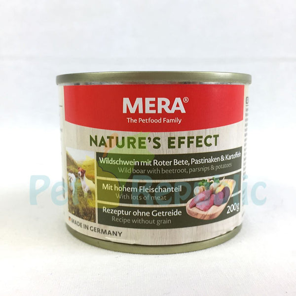 MERADOG Nature's Effect Wetfood Wildschwein- Wild Boar 200gr - Pet Republic Jakarta