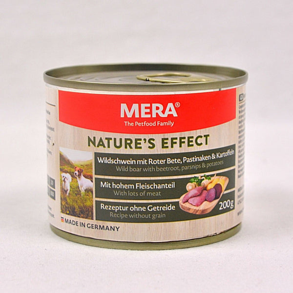 MERADOG Nature's Effect Wetfood Wildschwein- Wild Boar 200gr Dog Food Wet Meradog