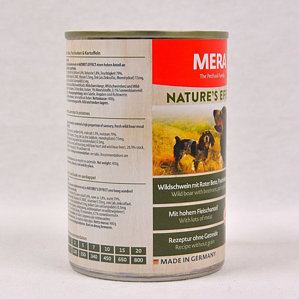 MERADOG Nature's Effect Wetfood Wildschwein- Wild Boar 400g Dog Food Wet Meradog