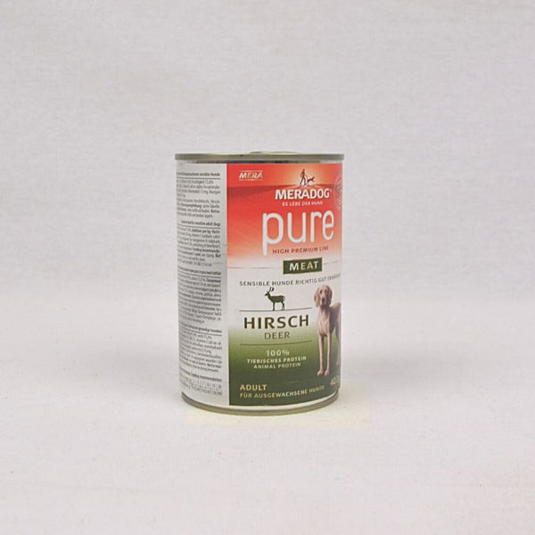 MERADOG Pure Meat Wetfood Hirsch- Venison 400gr Dog Food Wet Meradog