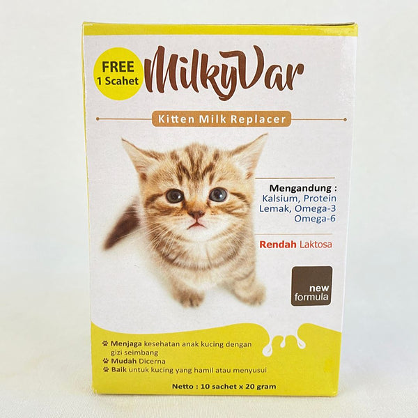 MILKYVAR Kitten Milk Replacer 10 Sachet x 20g Pet Vitamin and Supplement Milky Var