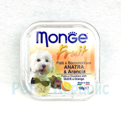 MONGE Fruit Duck& Orange 100gr - Pet Republic Jakarta