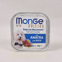 MONGE Tray Fresh DUCK 100gr Dog Food Wet Monge