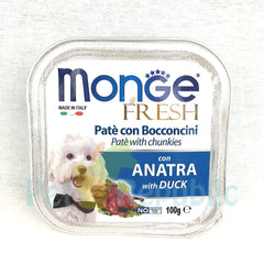MONGE Tray Fresh DUCK 100gr - Pet Republic Jakarta