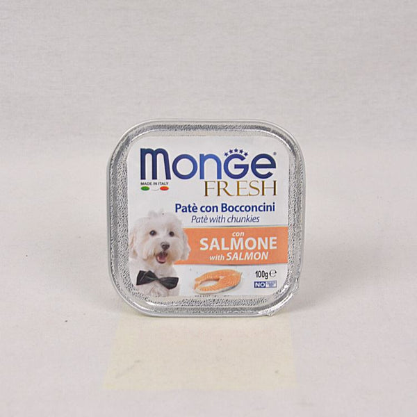 MONGE Tray Fresh Salmon 100gr Dog Food Wet Monge