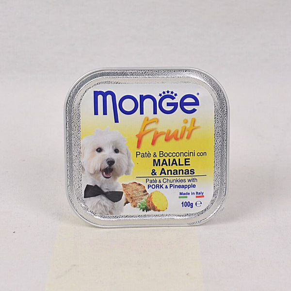 MONGE Tray Fruit Pork and Pinapples 100gr Dog Food Wet Monge