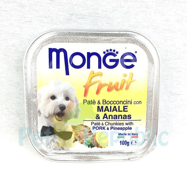 MONGE Fruit Pork+Pinapple 100gr - Pet Republic Jakarta