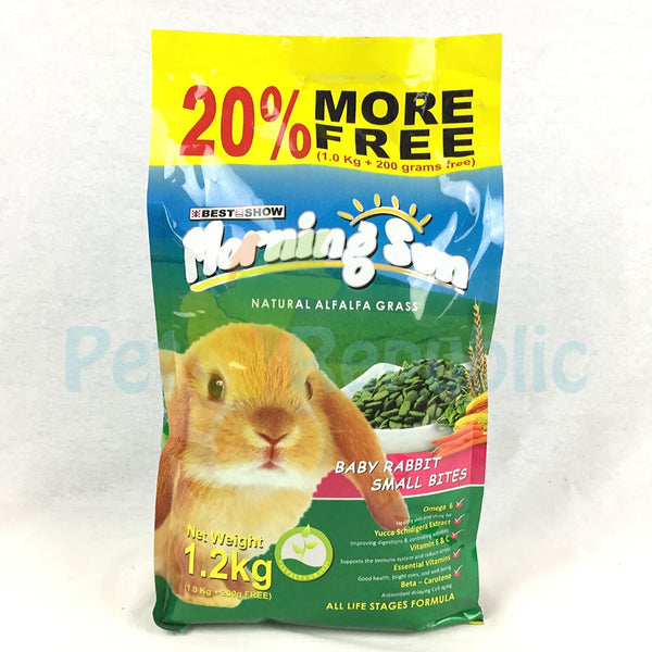 MORNINGSUN Baby Rabbit Small Bite 1.2kg - Pet Republic Jakarta