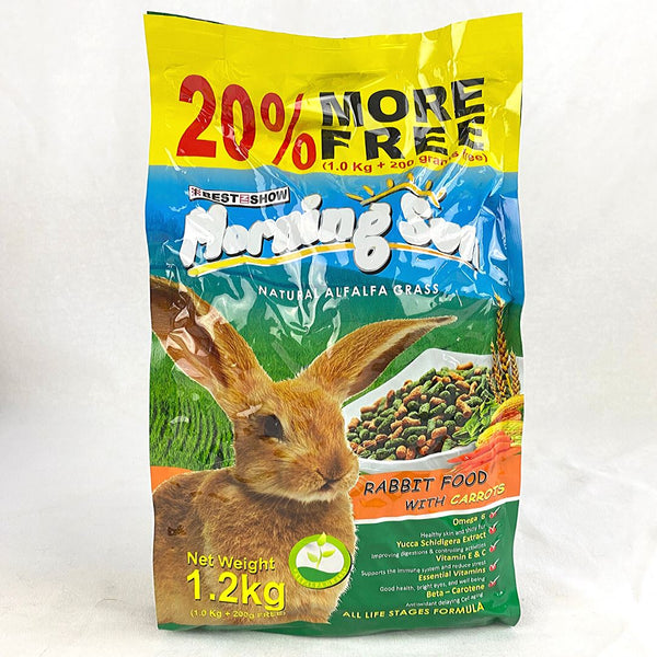 MORNINGSUN Rabbits Food with Carrot 1.2kg Small Animal Food Morning Sun