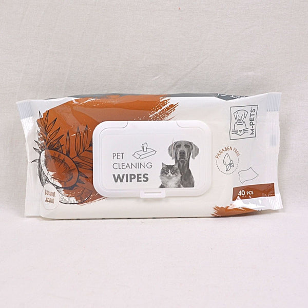 MPETS Cleaning Wipes Coconut 15x20cm 40pcs Grooming Pet Care MPets